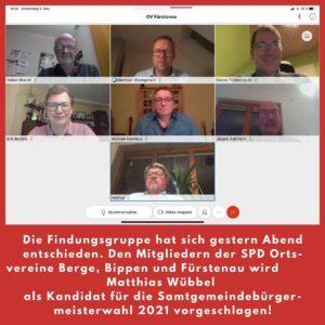 Bild von der Videokonferenz